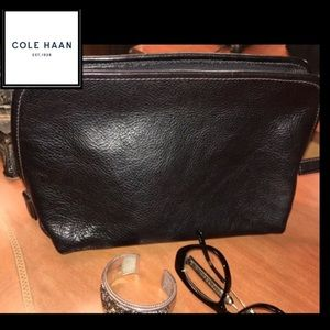 Cole Haan black leather clutch